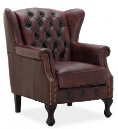 Aberdeen chesterfield Wingchair Oxblod Läder